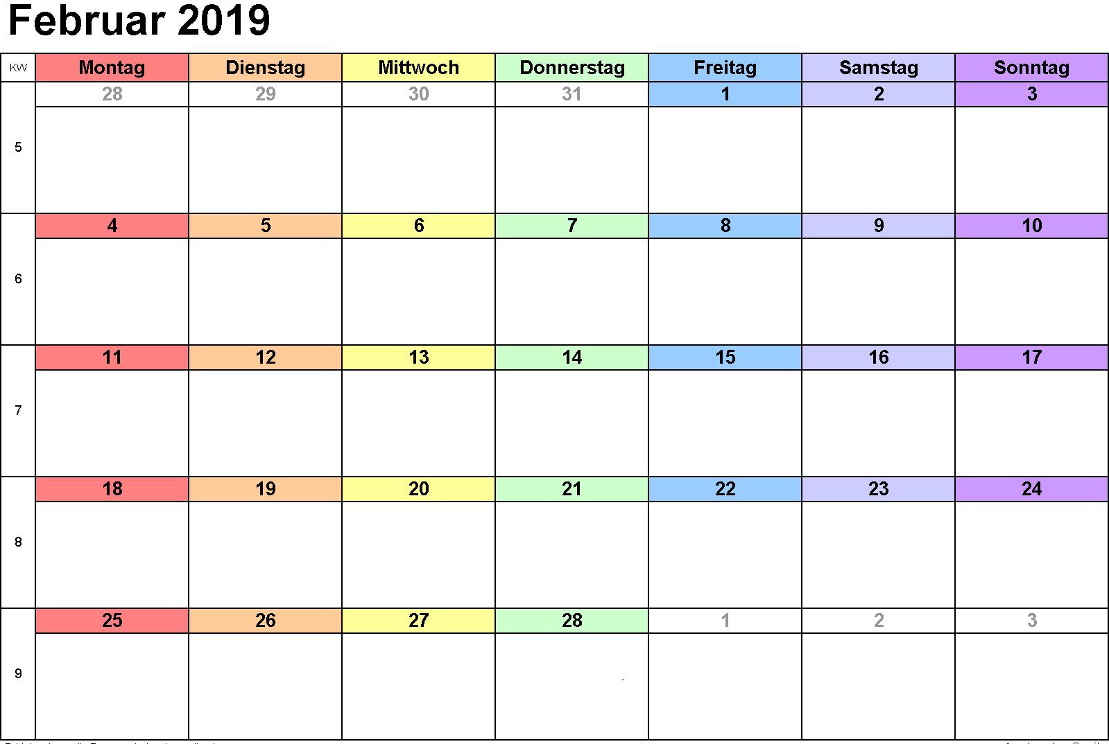 2019 Kalender Februar Google