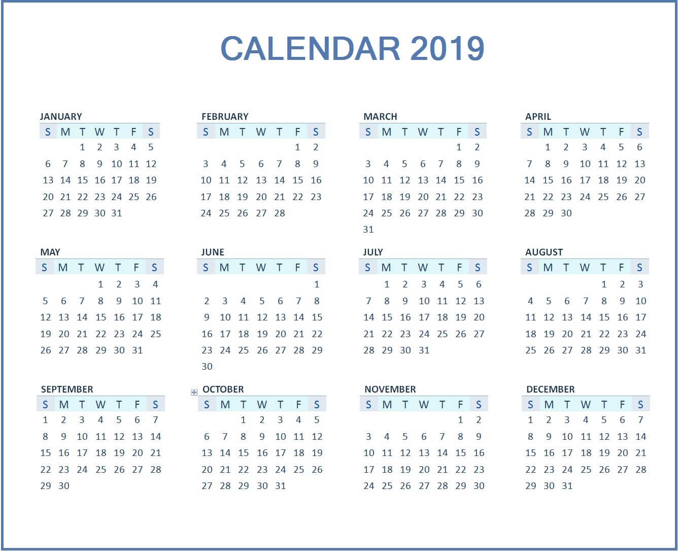 june printable calendar 2019 word