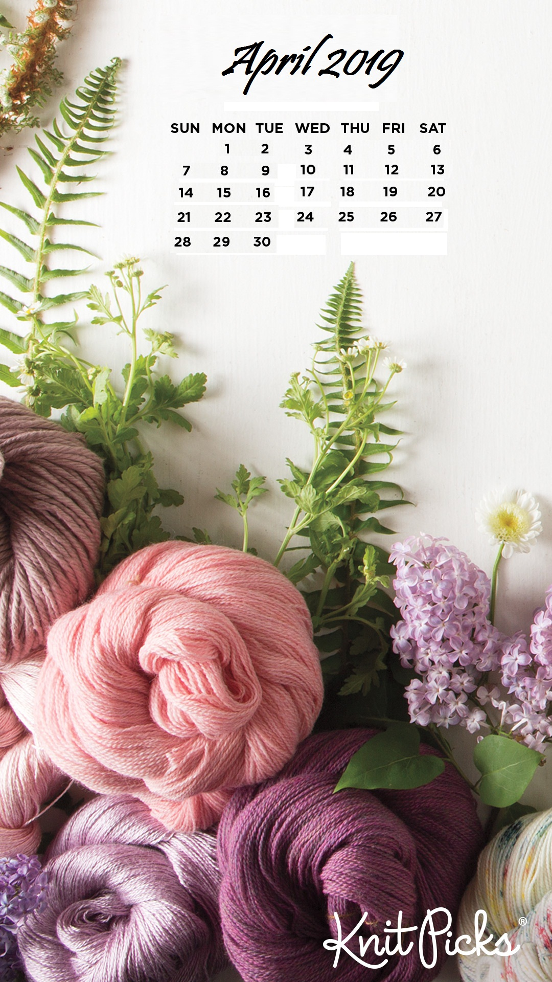 April 2019 Beautifull Flowers iPhone Wallpaper Calendar