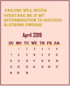 April 2019 Quotes Wallpaper