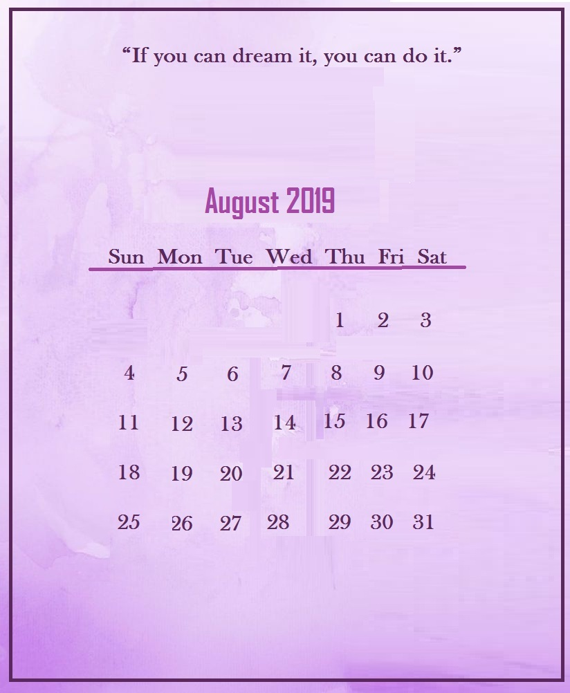 August 2019 Quotes Wallpaper