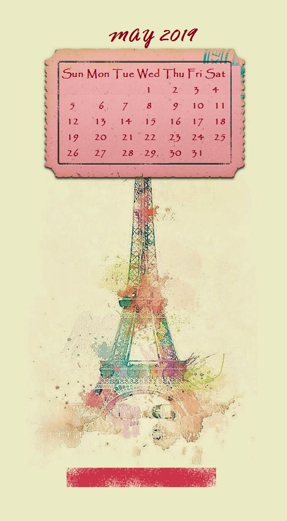 Cute iPhone March 2019 Calendar Background