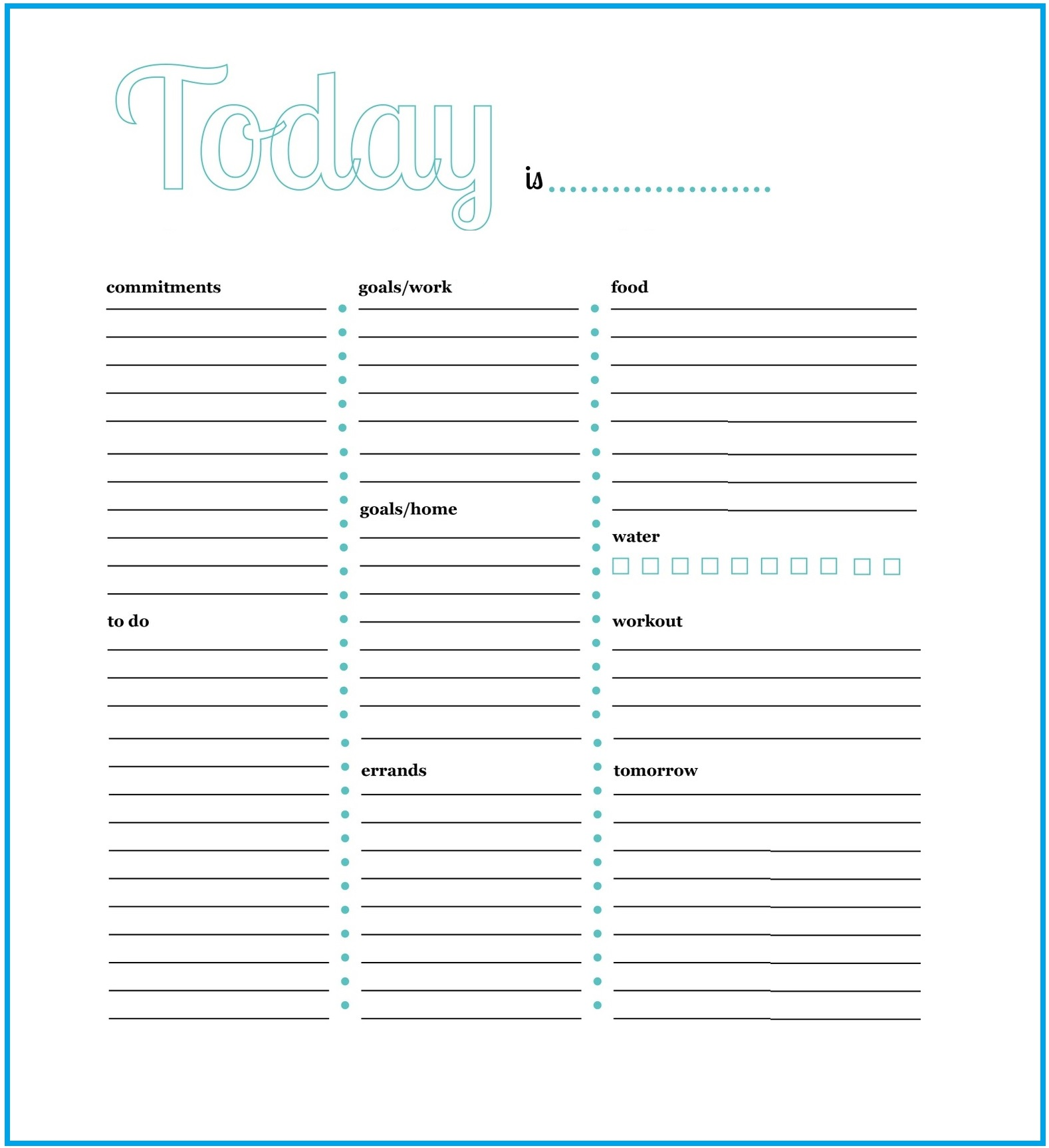 Daily Task Planner Template