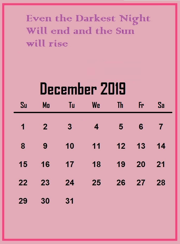 December 2019 Quotes Wallpaper