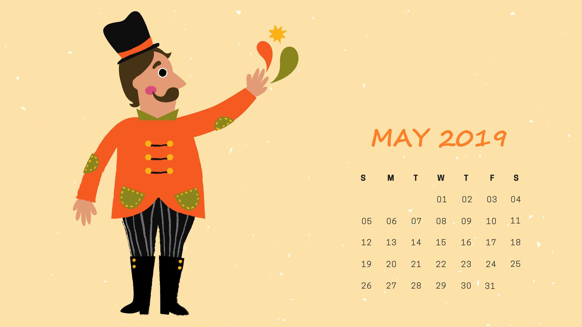 Download May 2019 Calendar Wallpaper