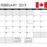 February 2019 Canada Blank Template