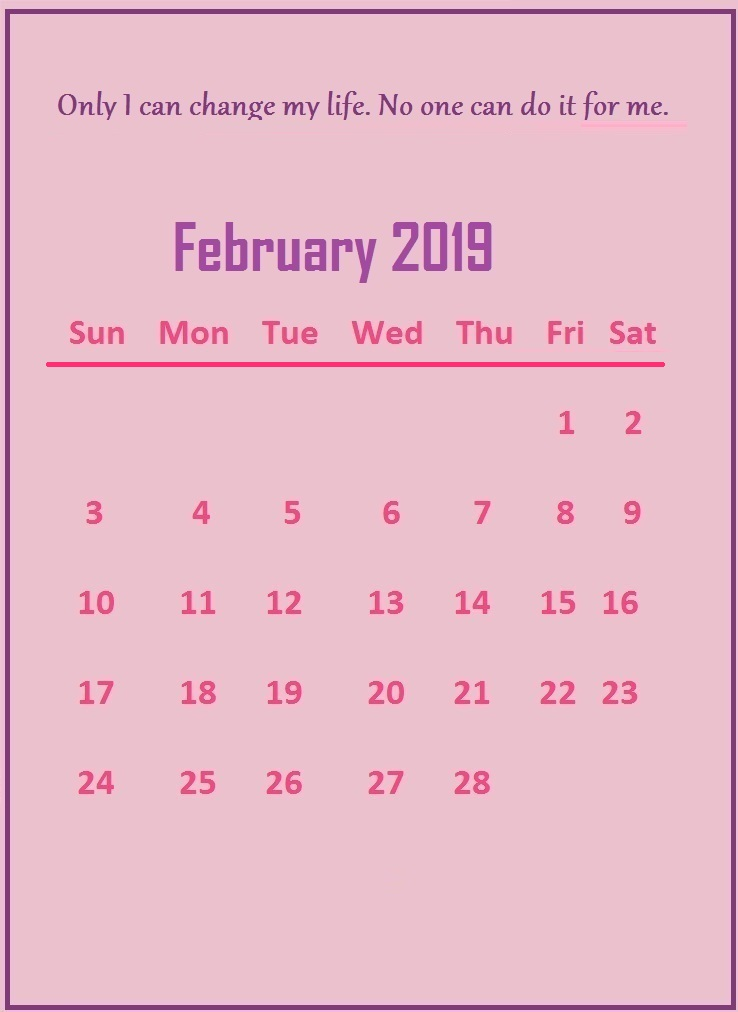 February 2019 Quotes Wallpaper
