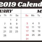 February March 2019 Calendar Printable