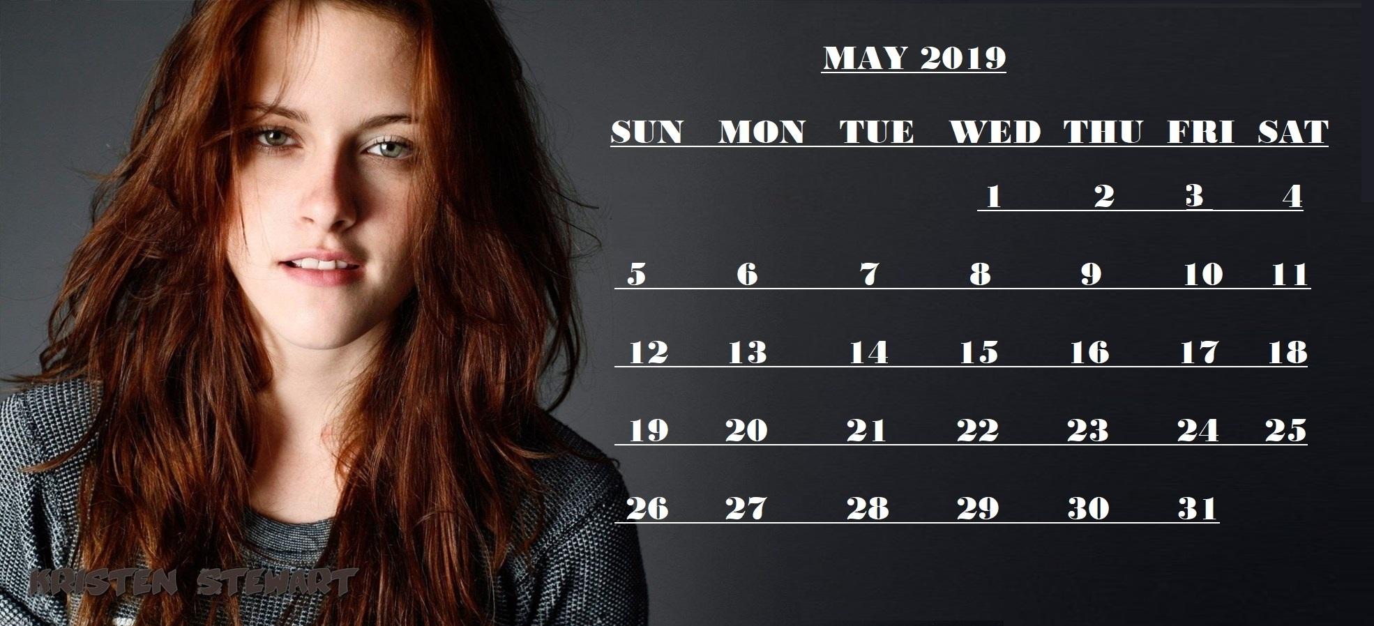 Free May 2019 Calendar Wallpaper