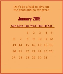 January 2019 Quotes Wallpaper
