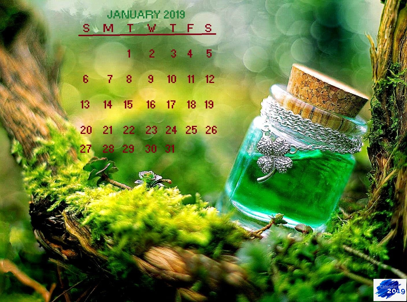 January 2019 Green Nature Calendar