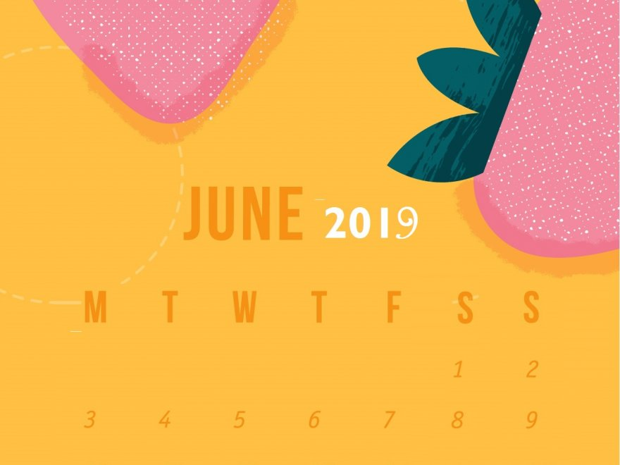 June 2019 Smartphone Wallpaper Calendar