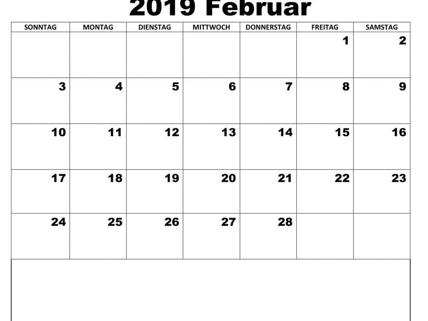 Kalender Februar 2019 Feri Mit Feiertagen