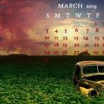 March 2019 Calendar Unique Desktop Wallpaper