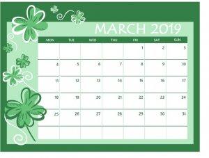 March 2019 Colorful Calendar