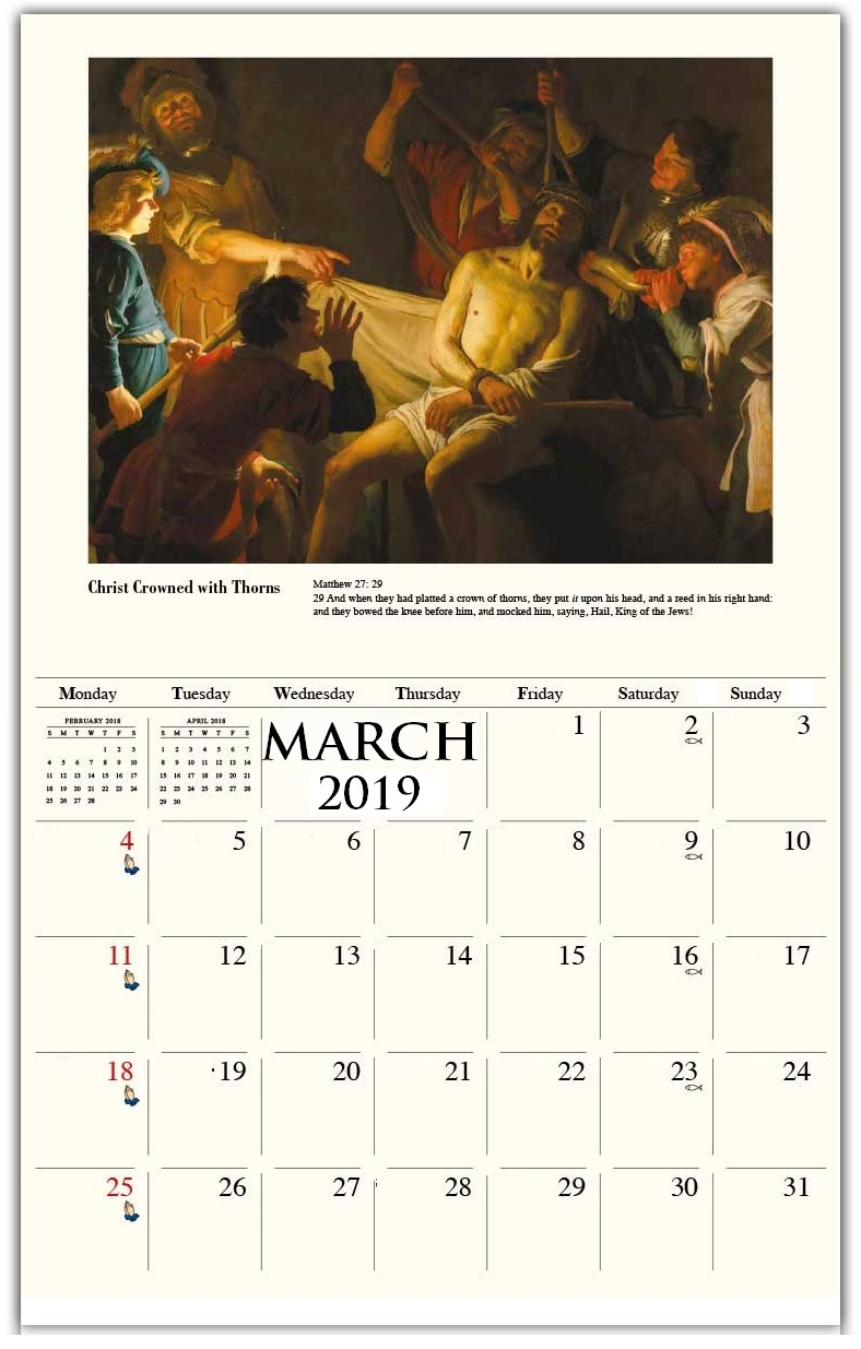 March 2019 Personalized Wall Calendar