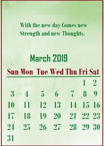 March 2019 Quotes Wallpaper
