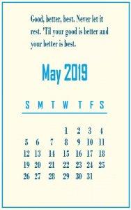 May 2019 Quotes Wallpaper