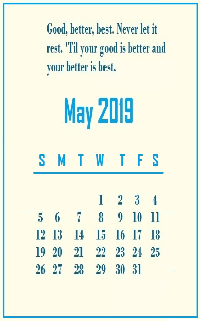 May 2019 Quotes Wallpaper
