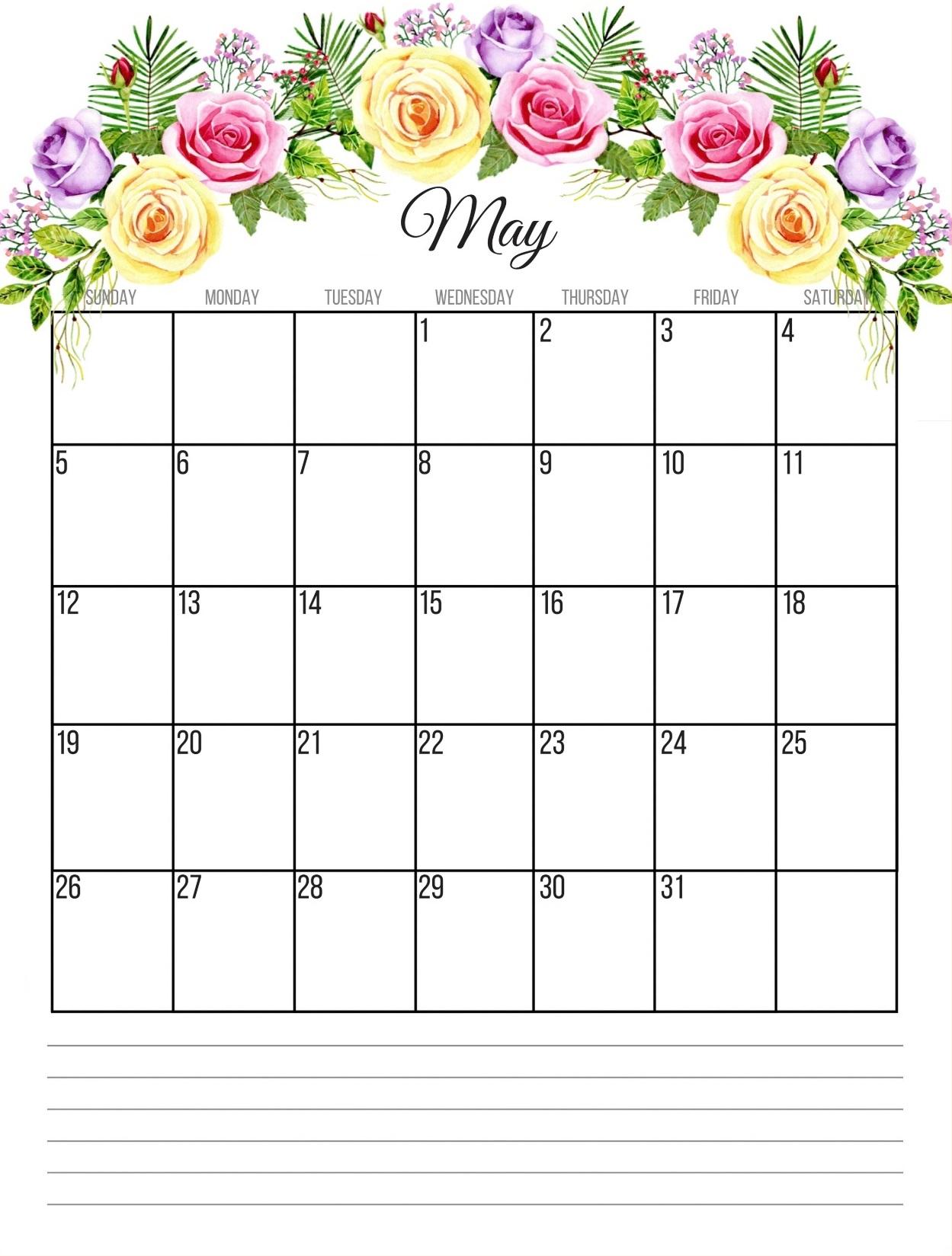 May 2019 Wall Calendar Template