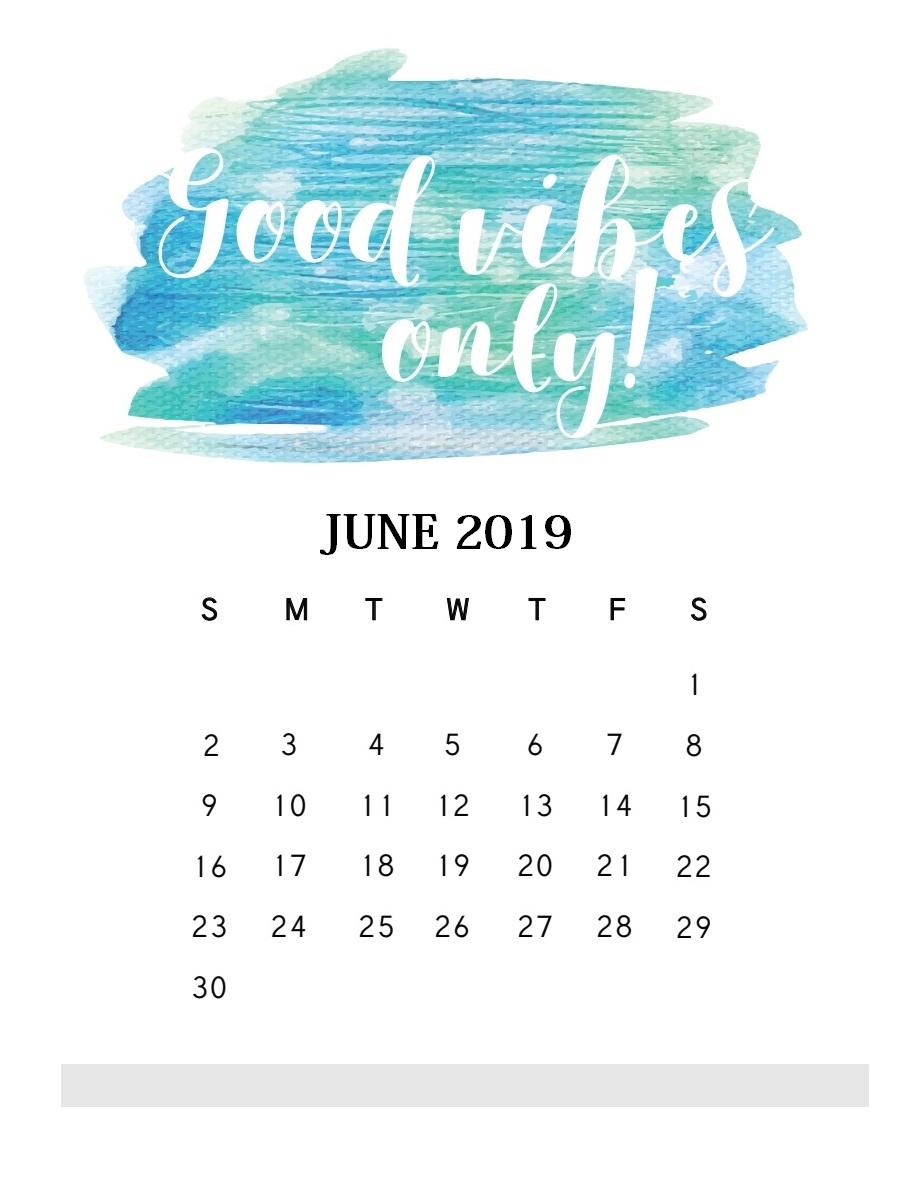 Motivational Quotes June 2019 Calendar