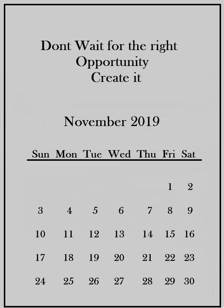 November 2019 Quotes Wallpaper