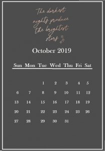October 2019 Quotes Wallpaper Calendar