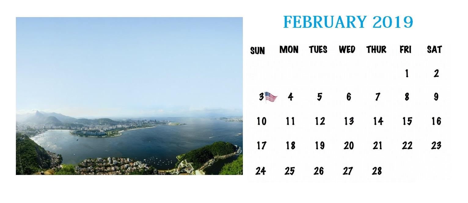Personalized February 2019 Calendar