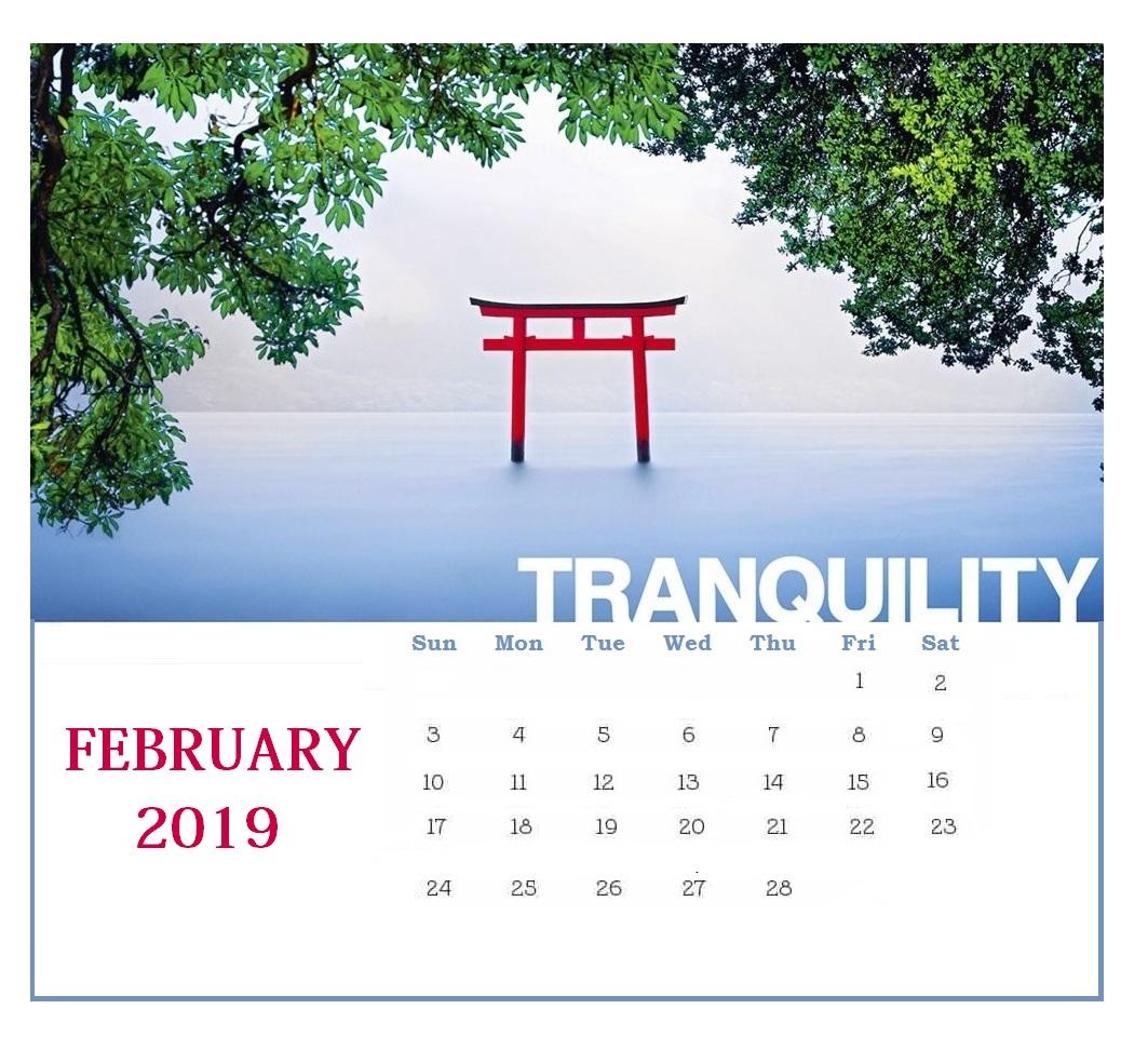 Printable February 2019 Editable Template