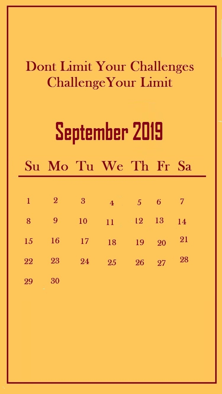September 2019 Quotes Wallpaper