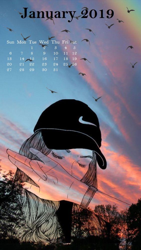Stylish January 2019 iPhone Wallpaper