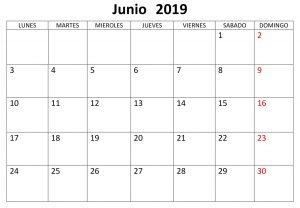 Calendario Junio Grande 2019