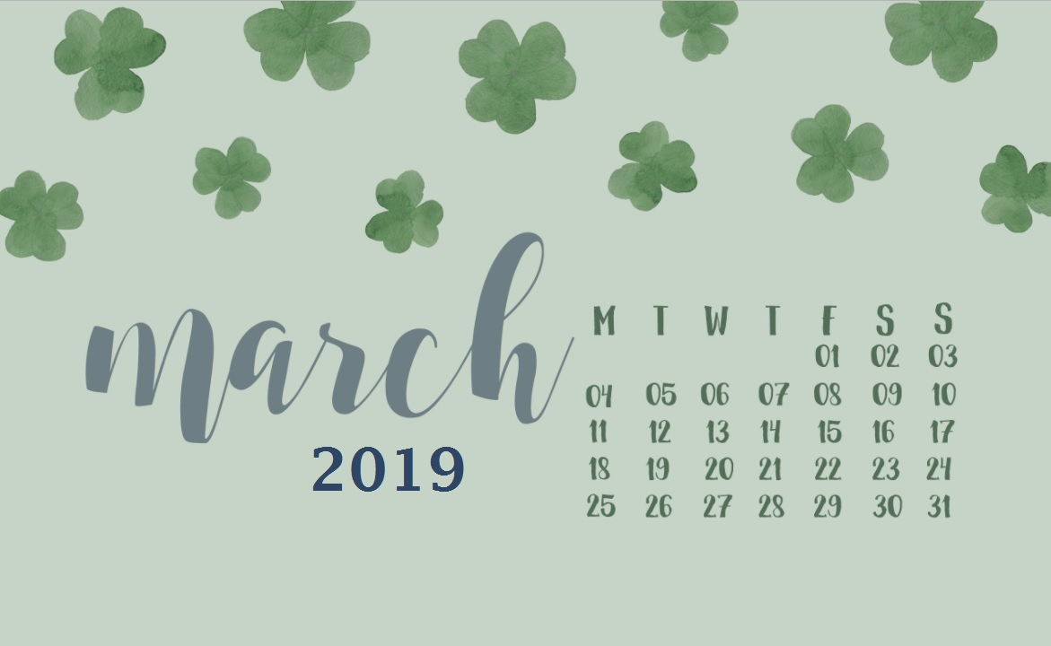 Cool March 2019 Wallpaper Calendar