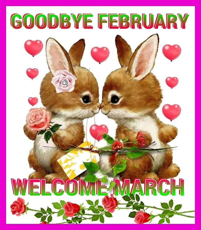 Cute Goodbye February Welcome March Images