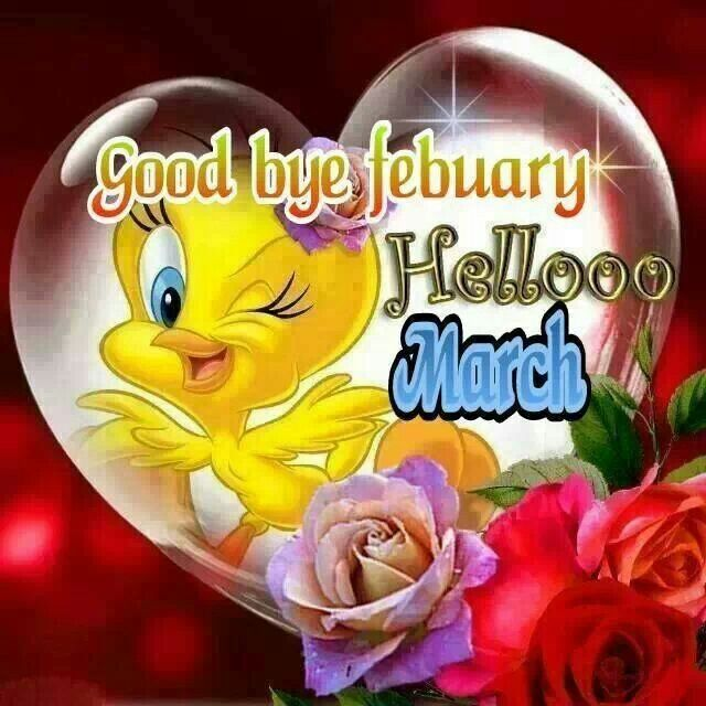 Cute Goodbye February Welcome March Pictures