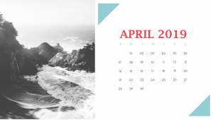Free April 2019 Desk Calendar