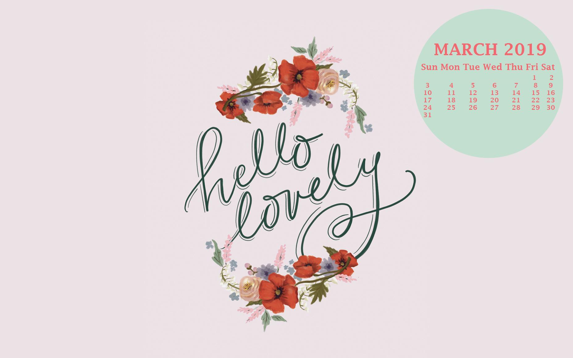 Free March 2019 Desktop Background