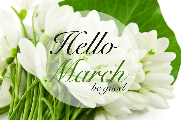 Goodbye February Welcome March Pictures