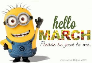 Hello March Funny Quotes