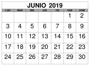 Junio Calendario Estilos 2019