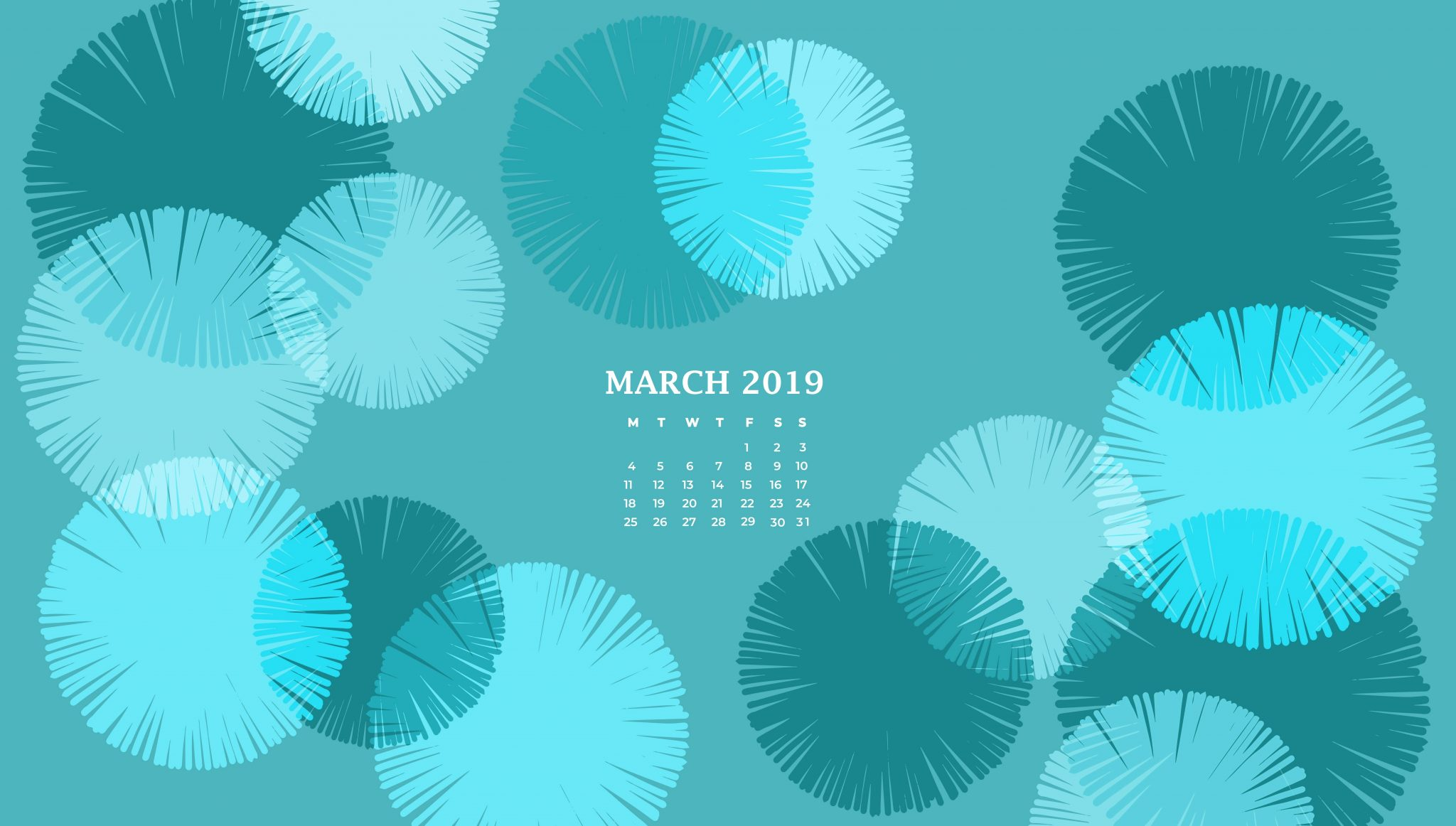 March 2019 Desktop Background Calendar