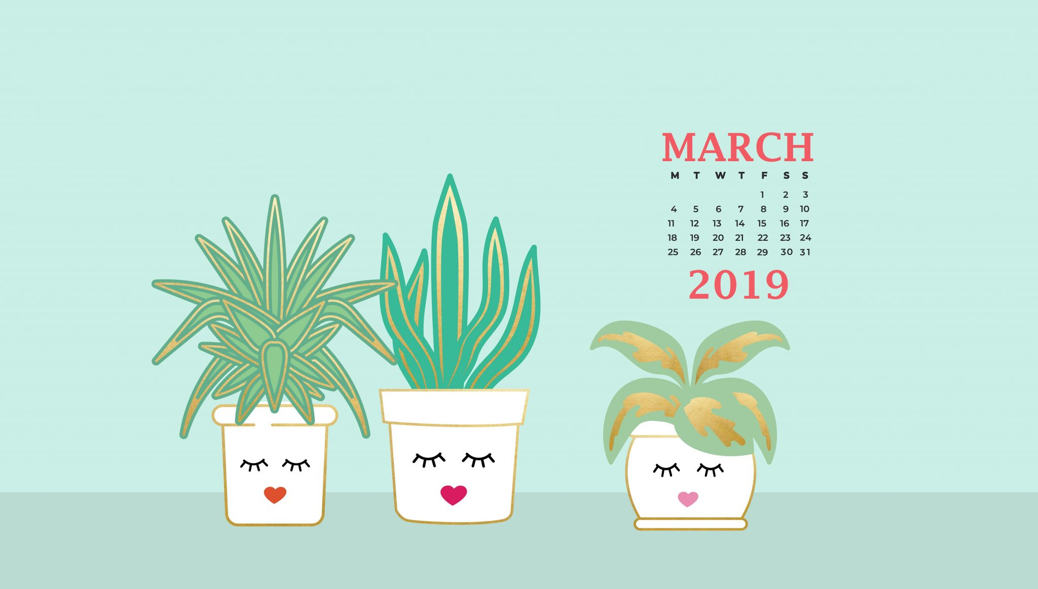 March 2019 Desktop Background Screensaver