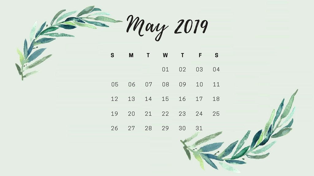 May 2019 Desktop Calendar HD Wallpaper