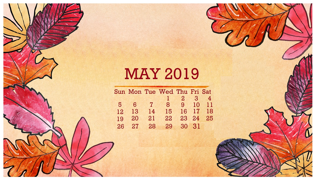 May 2019 Floral Background Screensaver