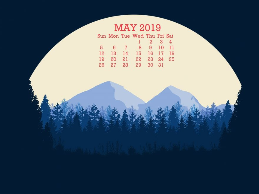 May 2019 Wallpaper With Calendar