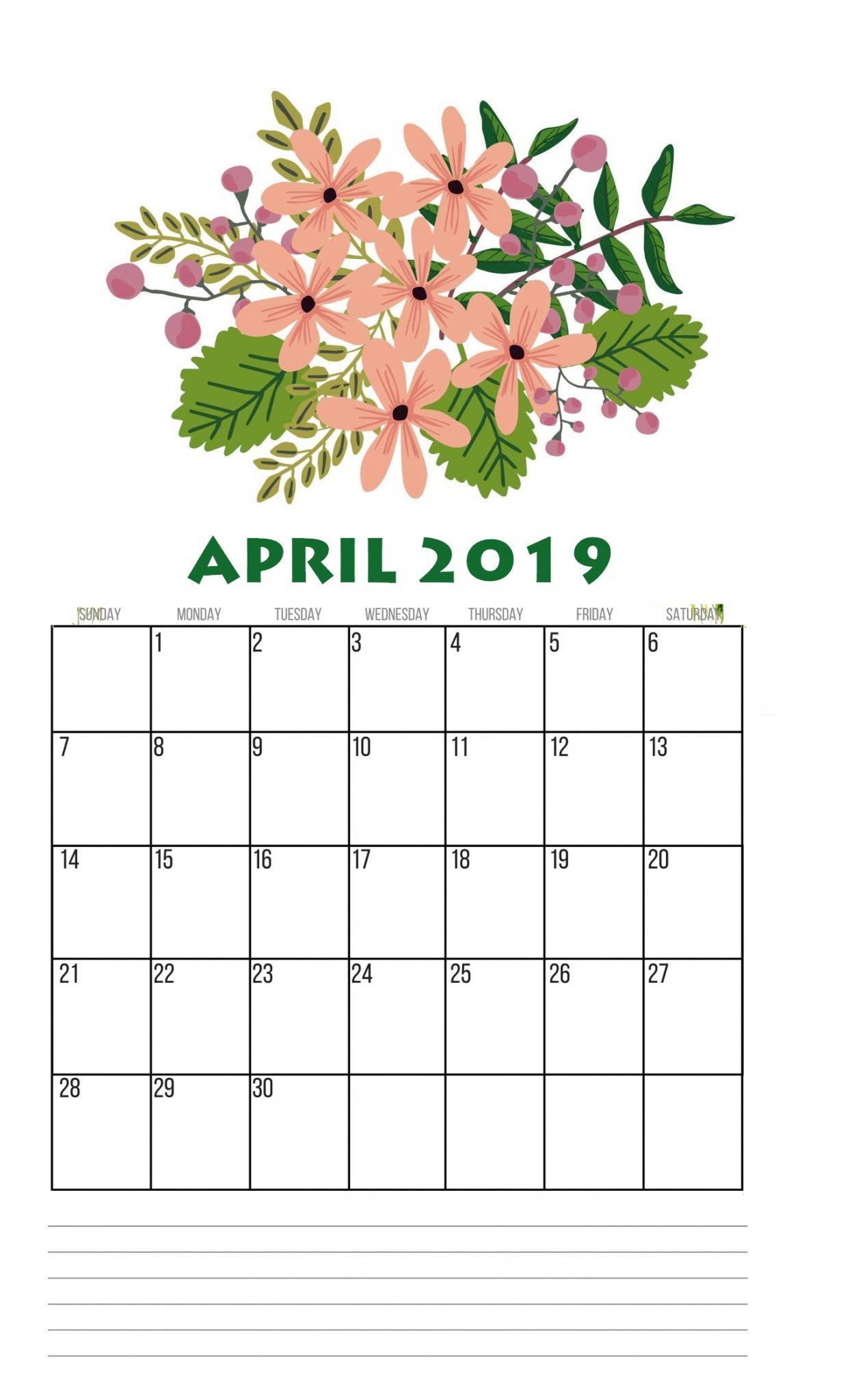 Unique 2019 April Wall Calendar