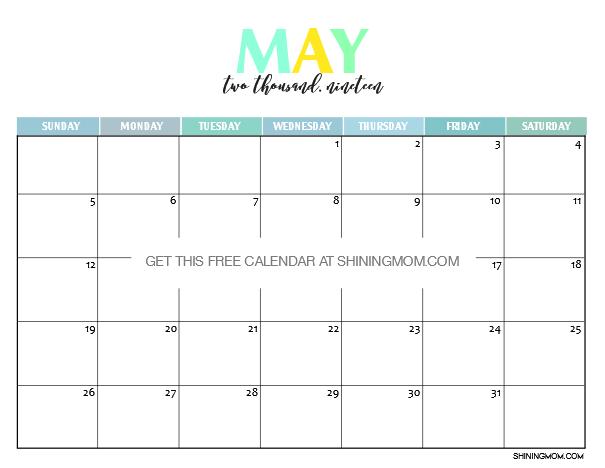 2019 May Calendar UK