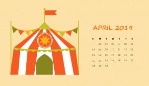 Cute April 2019 HD Calendar