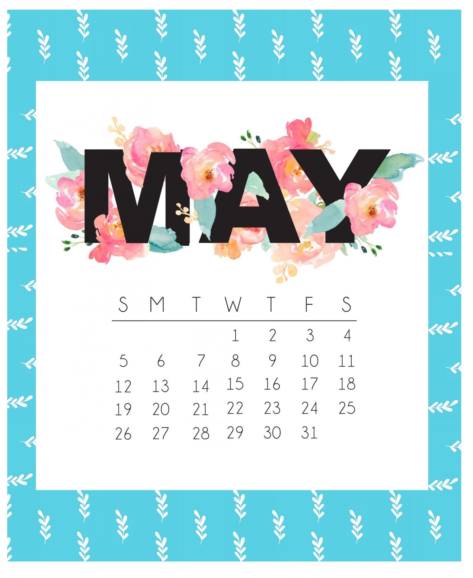 Cute May 2019 Calendar Designs