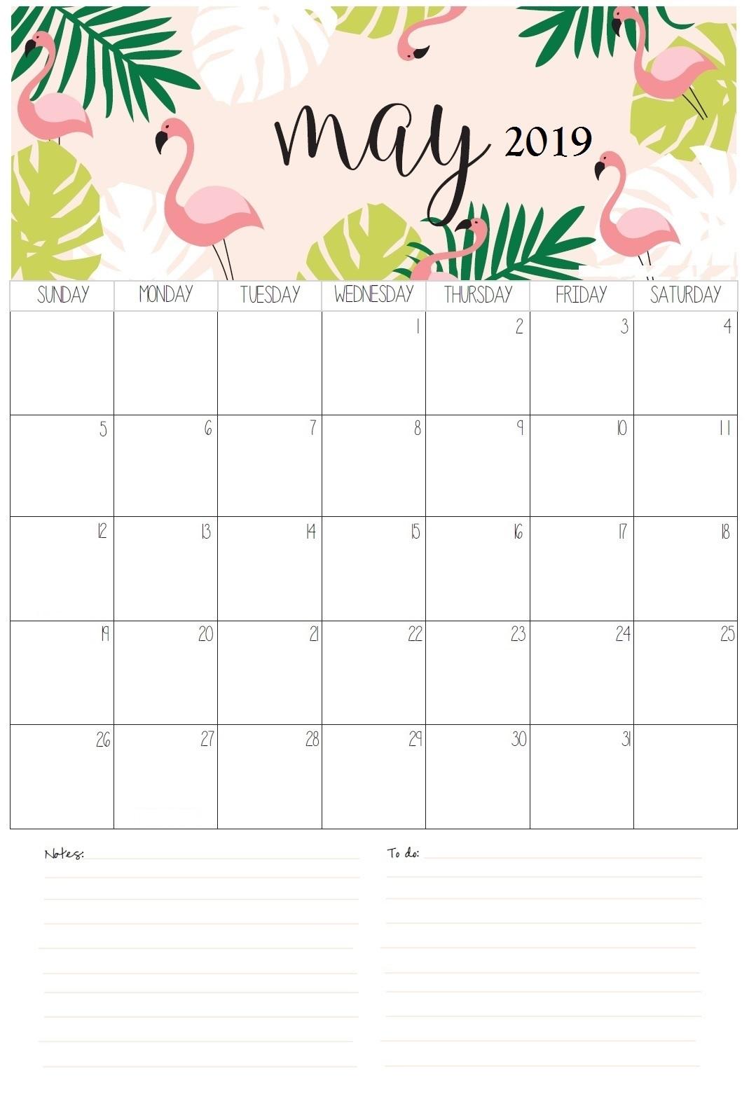 Latest May 2019 Calendar Design